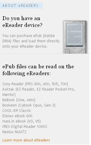 Sony Eer Ebook S